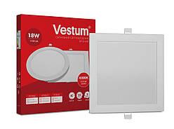 Квадратный светодиодный врезной светильник Vestum 18W 4000K 220V 1-VS-5205