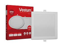 Квадратный светодиодный врезной светильник Vestum 24W 6000K 220V 1-VS-5206