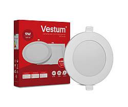 Круглый светодиодный врезной светильник Vestum 9W 4000K 220V 1-VS-5103