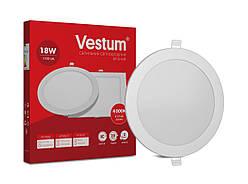 Круглый светодиодный врезной светильник Vestum 18W 4000K 220V 1-VS-5105