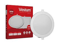 Круглый светодиодный врезной светильник Vestum 24W 6000K 220V 1-VS-5106