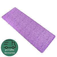 Коврик гимнастический для фитнеса и йоги 5 мм Zelart 1,83 м x 0,68 м Полиуретан Фиолетовый (FI-0566)