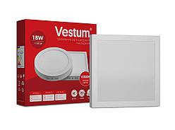 Квадратный светодиодный накладной светильник Vestum 18W 4000K 220V 1-VS-5403