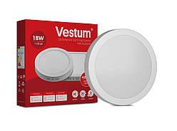 Круглый светодиодный накладной светильник Vestum 18W 4000K 220V 1-VS-5303