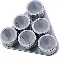 Набор баночек для специй на магнитной подставке BENSON BN-006/007 6 предметов