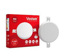 """Круглый светодиодный врезной светильник """"без рамки"""" Vestum 9W 4100K 1-VS-5502"""