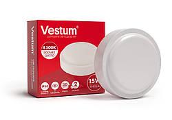 Светодиодный круглый светильник для ЖКХ Vestum 15W 4500K 220V 1-VS-7103