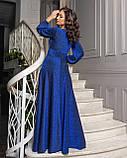 Платье в пол электрик, фото 2
