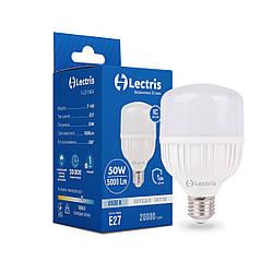 Светодиодная высокомощная лампа Lectris T80 50W 6500K 220V E27 1-LC-1604