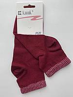 Носки женские средние c люрексовой резинкой Классик бордо размер 23-25 (36-40)