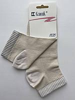 Носки женские средние c люрексовой резинкой Классик молочные размер 23-25 (36-40)