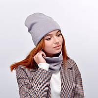 Комплект Изабелла 18026 (шапка+хомут) Серый, фото 1
