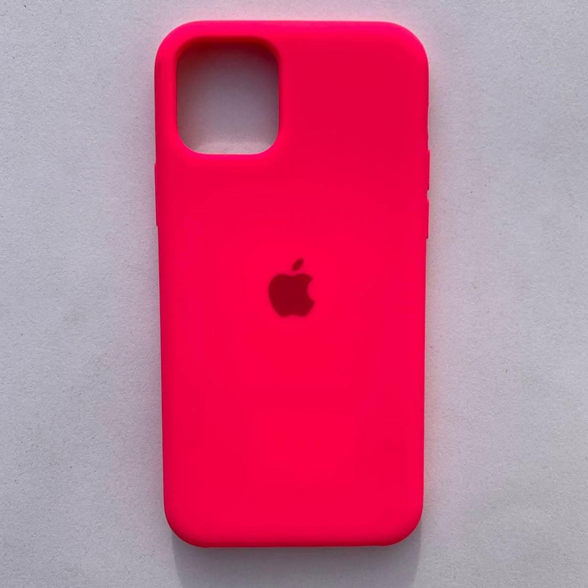 Чехол Silicone Case для Apple iPhone 11 Neon Pink