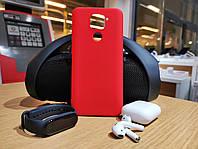 Xiaomi Redmi Note 9 чехол силиконовый красный