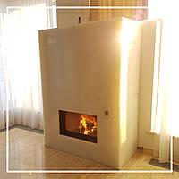Современный портал для камина из белого оникса: цена, фото, описание., фото 1