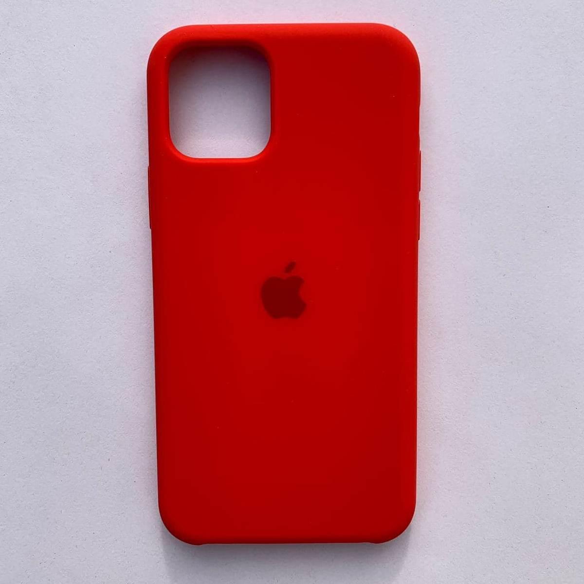 Чехол Silicone Case для Apple iPhone 11 Red