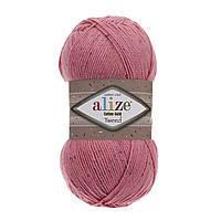 Пряжа Alize Cotton Gold Tweed 33 темно-розовый