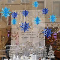 Декор для Нового года в виде снежинок Светло-голубой