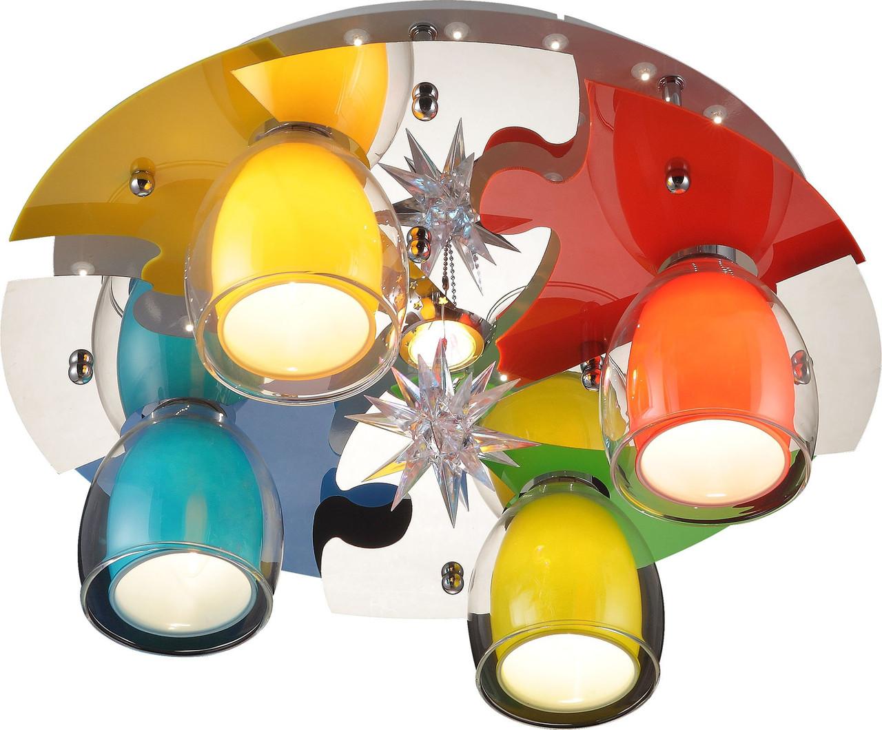 Светильник потолочный Altalusse INL-9326C-05 White & Multicolor