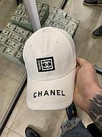 Кепка белого цвета в стиле Chanel|Кепка панамка мужская женская Шанель с логотипами