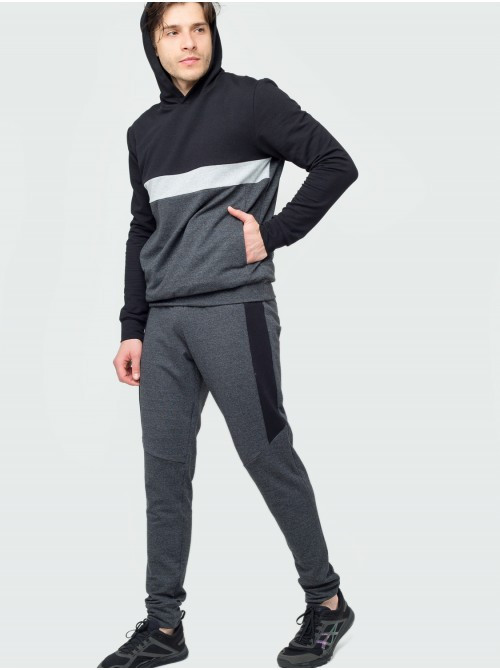 Спортивный костюм КN Черно-белый