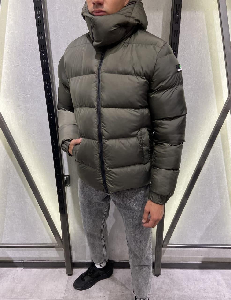 Мужская зимняя куртка хаки