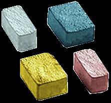 """Тротуарная плитка """"Ретро"""" 40 мм (черный, красный, желтый, коричневый), вибролитая, фото 2"""