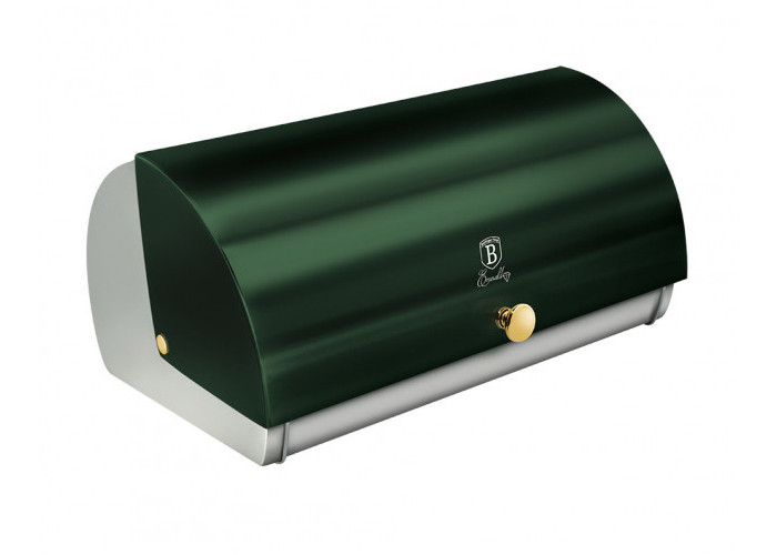 Зеленая хлебница Berlinger Haus Emerald 38.5x28x18.5см