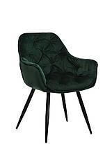Стілець M-65 смарагдовий м'яке крісло метал в стилі модерн