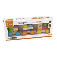 Деревянный поезд Viga Toys Цветные кубики (51610), фото 1