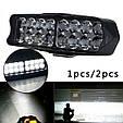 Яркая светодиодная LED Фара + Стробоскоп / Фонарь для авто, мотоцикла, скутера ( 16 LED, 12V, 24 Вт, 6500K ), фото 4