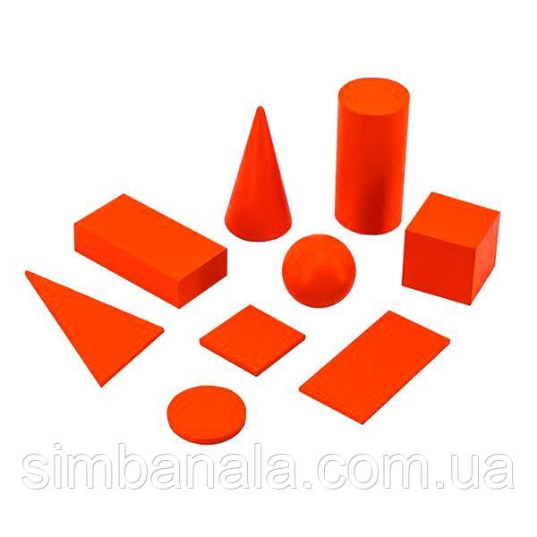 Навчальний набір Viga Toys Геометричні тіла і фігури (55559)