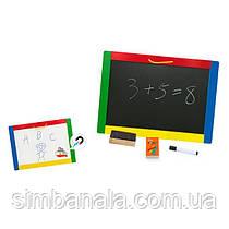 Детская магнитно-маркерная доска Viga Toys(двухсторонняя)