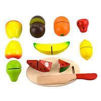 Игрушечные продукты Viga Toys Нарезанные фрукты из дерева (56290), фото 1