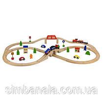 Дерев'яна залізниця Viga Toys 49 ел. (56304)