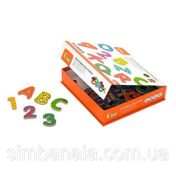 Набор магнитных букв и цифр Viga Toys, 77 шт. (59429)