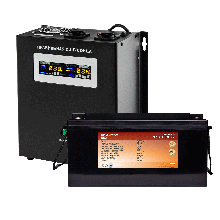 Комплект резервного питания для котла Logicpower W1500 + литеевая (LifePo4) батарея 2600 ватт