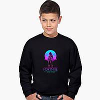 Свитшот для мальчика Фортнайт (Fortnite) (9509-1193-2) Черный 134 см