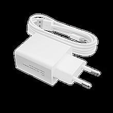 Зарядное устройство LP АС-013 USB 5V 2,4A + кабель USB - Type-C 2м  (Белый) /ОЕМ