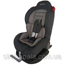 Детское автокресло Welldon Smart Sport с системой Isofix, група I+II(9-25кг), графитово/серый