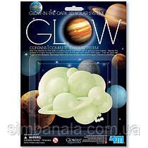 Набор светящихся 3D-наклеек 4M Солнечная система (00-05423)