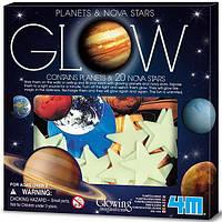 Набор светящихся наклеек 4M Планеты и 20 звезд (00-05635), фото 1