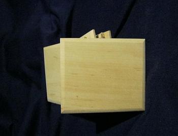Подставка квадратная под горячее 80*80 мм толщина 6 мм Ольха заготовка