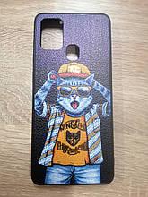 Чехол Samsung A21s (А217) Кот