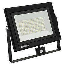 Прожектор светодиодный с датчиком  PARS/S-100 100W 6400K