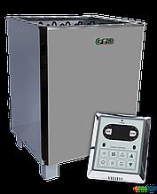 Электрокаменка EcoFlame SAM - D 15 + пульт CON6, 14-24 м3, 15 квт, 380, Напольная, Выносной