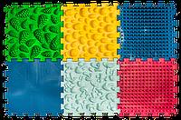 Ортопедический коврик пазл для детей ,массажный Пазлы Микс 6 элементов