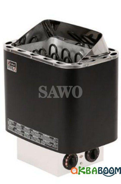 Электрокаменка Sawo Nordex NR-60NB Blac, Электрокаменки, Финляндия, 5-10 м3, 6 квт, 220/380, Настенная,