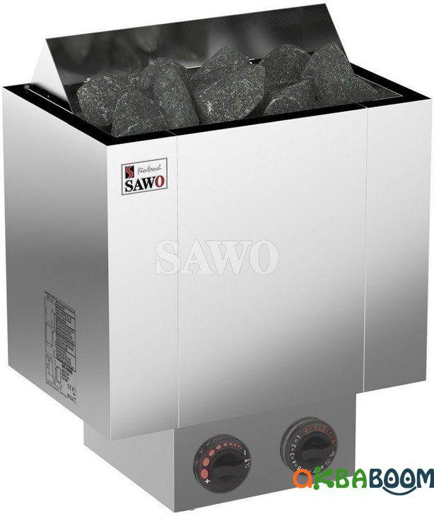 Электрокаменка Sawo Nordex NRX-80NB, Электрокаменки, Финляндия, 8-15 м3, 8 квт, 380, Настенная, Встроенный,
