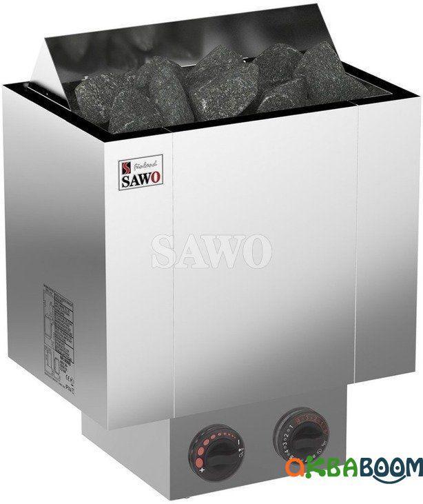 Электрокаменка Sawo Nordex NRX-90NB, Электрокаменки, Финляндия, 8-15 м3, 9 квт, 380, Настенная, Встроенный,